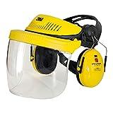 3M G500 combinación industrial: Arnés G500-GU, pantalla 5F-11 y orejeras Optime I (P3E) amarillo