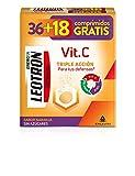 LEOTRON Vitamina C 36+18 comprimidos efervescentes - Complemento alimenticio con vitamina C, zinc y selenio con edulcorantes