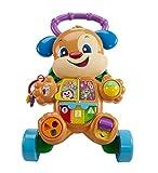 Fisher-Price Ríe y Aprende - Andador Perrito Primeros Pasos, Correpasillos Bebé +6 meses (Mattel FRC85), Embalaje estándar