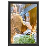 Yorbay Marcos de Fotos 15 x 20 cm Originales Pared Negro Pino Portafotos de Madera (15 x 20 cm) Reutilizable