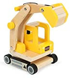 small foot Excavadora de Madera 12010 con Certificado FSC 100 %, Brazo de Excavadora móvil, rotación de 360 Grados, Juguete de construcción doméstico, Multicolor