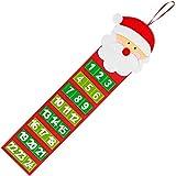 KARAA Calendario de Adviento para Colgar, Calendario navideño para llenarte de cositas, Papá Noel, para niños y Adultos 65cm x 20cm