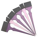 6 piezas de pinceles de silicona para el color del cabello, conjunto de cepillos de tinte para el cabello Balayage con cabezal de cepillo desmontable Kit de peinado profesional para el cabello