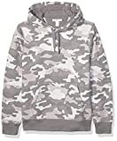 Amazon Essentials Hooded Fleece Sweatshirt Fashion-Hoodies, Camuflaje Gris, US M (EU M)