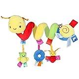 Pixnor Espiral actividades colgar juguetes del cochecito de bebé juguetes carro asiento cochecito juguete con campana de timbre