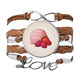 DIYthinker - Pulsera de bolas de helado rosa con cadena de amor, diseño de uva de fresa