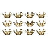 SUPVOX 20pcs mini accesorios de la corona mini princesa corona del traje del pelo de la corona para la joyería tocado juguetes
