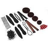 8 piezas de peinado de pelo respetuoso con el medio ambiente accesorios para el cabello, trenzado de pelo, herramienta para principiantes (traje)