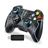 EasySMX Mando para PC, [Regalos Originales] Mando Inalámbrico PS3 Gamepad Wireless Compatible con Windows XP y Vista, Windows 7/8/8.1/10, PS3, Android y Operación Rango hasta 10M