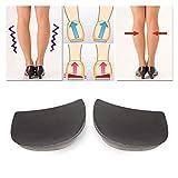 Placa plana Orthotics Zapatos Plantilla Unisex X/O Tipo Piernas Corrección Pad Pad Sole Goma Suolette Plantillas De Gel 21327 (Color : Apricot Transparent)