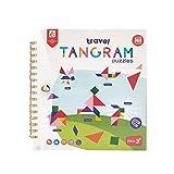 Puzzle infantil Tangram, juguetes para niños que ayudan al desarrollo del cerebro, juegos de viaje Smart Brain Teaser IQ Logic Puzzle niños adultos