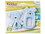 Kiddus Set 2 Mordedores Bebé 100% silicona orgánica libre de BPA, Alivia el dolor de encías y calma al bebé en la salida de sus primeros dientes 3M+ (Azul)