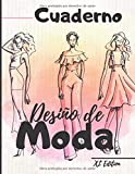 Cuaderno Diseño de moda: XL Edition +450 Figuras plantilla de maniquíes para dibujar ropa para diseñadores de moda y estilistas I 130 páginas - 8,5 * 11 en I