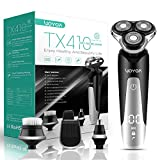 VOYOR Máquina de afeitar Afeitadora Eléctrica Recargable Para Hombres, Recortadora de Barba, Juego de Afeitadora En Húmedo y Seco TX410