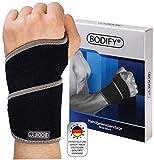 Bodify Muñequera para aliviar el dolor de la articulación de la mano, protección y estabilidad para el síndrome del túnel carpiano y tendinitis, con cierre de velcro y transpirable