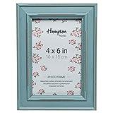 Hampton Frames Paloma Dstrsssd-Marco de Madera, Color, Azul Claro, 4x6 (10x15cm)