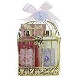 Gloss! - Bain - una Jaula con todos los productos de ducha para las mujeres - jaula de metal que incluye una loción para el cuerpo - Colección Rosa Blanca - Rose, jazmín y magnolia