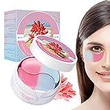 Eye Mask, Máscara para los Ojos, Ojos Parches, Mascarilla Calmante Coral para Ojos,Alivia el Cansancio y Reafirma la Piel-Para Arrugas,Líneas Finas,Ojeras y Bolsas Debajo de los Ojos Cuidado
