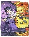 SSKJTC Impresión de ilustraciones Manta Naruto vs sasuke modo salvia Cama Dormir Viaje Mascotas Lectura 70x90 Pulgadas
