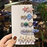 5 clips de pelo con perlas, perlas de moda, pasadores de pelo artificiales para mujeres, mujeres y niñas, accesorios para el cabello (azul)