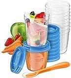Philips Avent - Juego de recipientes para comida de bebé (20 recipientes + 1 cuchara + libro recetas)