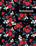 Red Rose Magnolia Lilly Flowers : College Ruled Notebook & 2020 Planner: Lined notebook Gift, 120 Pages, 8.5x11, Soft Cover, Matte Finish