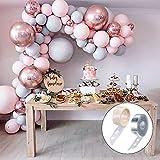 Globos de globos de látex gris y rosa macarón 4D de la guirnalda de globos, boda bebé ducha cumpleaños