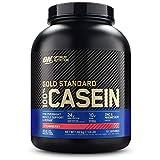 Optimum Nutrition Gold Standard Casein, Proteinas de Caseina en Polvo con BCAA Aminoacidos Esenciales, Zinc y Magnesio en Polvo, Fresa, 55 Porciones, 1,82 kg, Embalaje Puede Variar