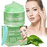 Deep Cleansing Mask, Green Clay Mask, Peel Off Máscara, Hidrata y controla la grasa, El acné y el removedor de espinillas, Mejora la textura de la piel