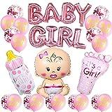 baby shower niña,Gender Reveal Decoration,Boy or Girl Party,Accessorios Baby Shower,niño Cumpleaños Baby Shower Decoración,globos de fiesta para baby shower,pancartas para baby shower