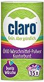 claro Kunterbunt Polvo para Lavadora - 1 kg de Detergente para Ropa de Color - Vegano - 35 Lavados