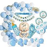 MMTX Baby Shower Decoraciones niños, globos de fiesta para baby shower Chico la momia ser faja, pancartas para baby shower, globo papel aluminio para revelación de género momia para ser