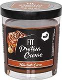 Fit Protein Creme - 200g crema de chocolate y avellanas - Sin aceite de palma ni gluten - 90% menos azúcar - 21% de proteína - Alternativa fitness baja en carbohidratos para dieta proteica - de nu3