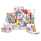 CRAZE Premium Advent Calendar 25321 Navidad de adviento 2020 Unicorn CREA tu Propio Calendario de Juguetes para niñas DIY, Color Play Set