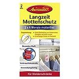 AEROXON Trampa para polillas de la ropa en el armario con larga duración Conjunto de 2