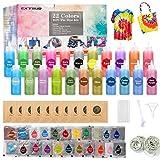 EXTSUD Tie Dye Kit, Tinturas para Ropa, Set de Colorantes para Camisetas 22 Colores Tintes, Arte de Bricolaje Ideal para Niños y Adultos