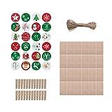 Navidad DIY Patrón Bolsa de Dulces 1-24 Calendario de Adviento Paquete Lino Regalo Xams Hogar y jardín Decoración del hogar