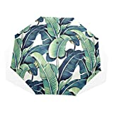 Paraguas Tropical Banana Leaf 3 Pliegues Ligero Anti-UV