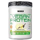Weider-Vegan Protein- Proteína 100% vegetal de guisantes (PISANE) y arroz. Sin gluten. Sin lactosa. Sin aceite de palma (750 g). Sabor Vainilla