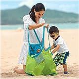 Stonges - Bolso de asas de arena de la playa para los juguetes grandes y de la ropa, 45 x 30 x 45 cm