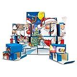 CRAZE Premium Advent Calendar Christmas 25345 adviento 2020 Navidad CREA tu Propio Calendario niños DIY, Color Play Set