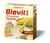 Blevit Plus Superfibra 8 Cereales - Papilla de Cereales para Bebé Con Trigo Integral y Arroz Integral, Sin Azúcares Añadidos - Facilita la Digestión - Desde los 5 meses - 600g