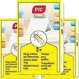 PIC - 6X - Trampa para polillas de la Ropa - remedio contra Las polillas de la Ropa, Adecuado para la protección de Toda la Ropa en el Armario
