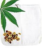 Cáñamo bolsa para leche vegetal Ecocasa - la alternativa ecológica por fabricar leche de almendras – zumos – yogur vegano – lavar quinoa | incluido instrucciónes y recetas