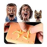 Kylewo Juguete para el acné, Pop It Pal Peach Pimple Popping divertido juguete empujador de espinillas con pus recargable
