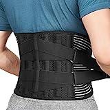 FREETOO Cinturón de Apoyo Lumbar, Cinturón de Presión Ajustable de Doble Capa, Ligero y Transpirable Faja de Espalda para la Protección en el Trabajo, Dolor de Espalda Talla L