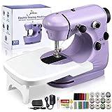Jeteven Maquina de Coser,Sewing Machine Mini Máquina de Coser eléctrica portátil,con Kit de Costura y Mesa de Costura, para DIY Hogar Tela