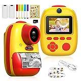 Laelr Kids Cámara Digital Cámara para niños Recargable 26MP Cámara de impresión instantánea Cámara instantánea Digital Videocámaras de Video 1080P con Tarjeta SD de 32G