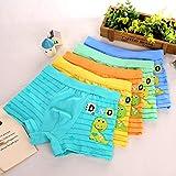 YIQI niños Ropa Interior Boxeadores Pantalones Cortos elásticos Calzoncillos algodón niños Edades 2-3, tamaño 3T(5 Paquete)