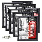 Amazon Brand - Umi Marco de Fotos 20 x 25 cm Set de 8, Negro